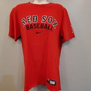 Red Sox Baseball Red Nike Team Shirt